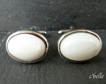 Cuff buttons mother of Pearl Ø 13 x 18 mm