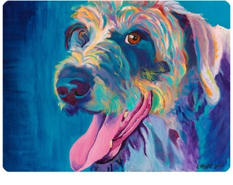 Lizzy Irish Wolfhound Dog Wall Decal - #59951