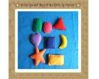 NEW Learning Shapes and Colors - Stuffed Felt Shapes