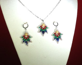 Super Duo Christmas Earrings and Necklace Set