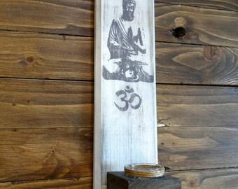 Buddha Candle holder -Buddha wall art - Buddha Wall Hanging Candle holder