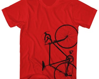 Road Bike shirt. Printed on Ultra Soft Ringspun Cotton