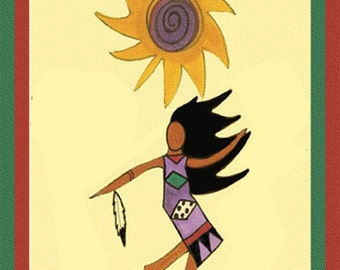 SOUL DANCE  Greeting Card By Connie Troupe Free Ship USA