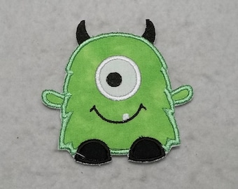 Monster (small) Tutu & Shirt Supplies - fabric iron on Applique Patch 8556
