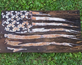 Rustic and Ragged Flag