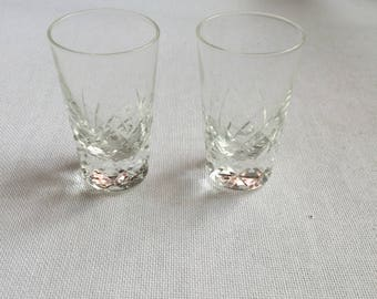Pair of 1980s Vintage Glass Shot Glasses