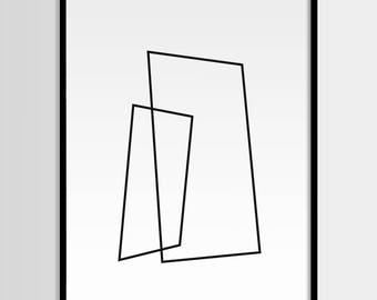 Minimalistic, Abstract art, Grey white, Geometric Art, Modern art, Wall decor, Digital art, Printable, Digital poster Instant Download 16x20