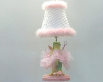 Whimsical Ballerina Fairy Frog Lamp - Children's Lighting