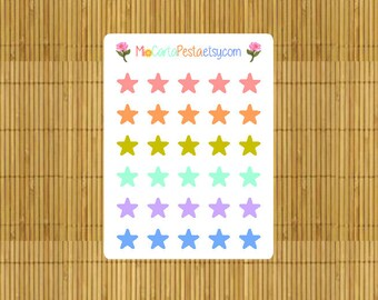 M014 - 30 Color Stars StickiPocket Mini Sheet Planner Stickers