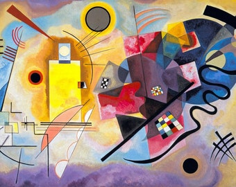 Wassily Kandinsky Yellow, Red, Blue, 1925