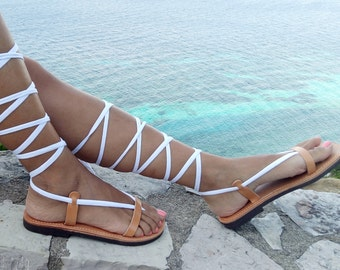 gladiator sandals, lace up sandals, Tie Up leather sandals, NEW SS17