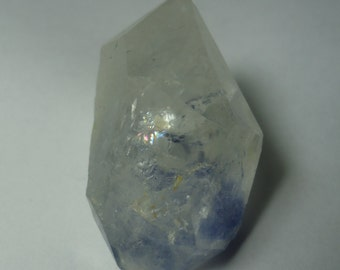 DUMORTIERITE QUARTZ With Rainbow 17.8 Gram Natural Double Terminated Blue Inclusions Crystal Specimen From Brazil Sale