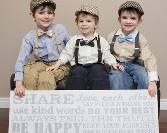 Ring Bearer, Boys Wedding outfit, Newsboy Hat, Suspenders, Bow Tie, wedding party, kids braces, ring bearer outfit, FREE shipping