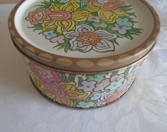 Rowntree mackintosh toffee tin daffodil design