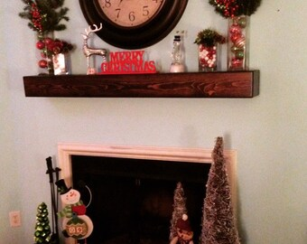 Fireplace mantel-Mantle-Fireplace mantle-Floating shelf-Floating shelves-Mantel-Wood mantel-Mantel shelf-Floating mantel-Shelf-Wood mantle