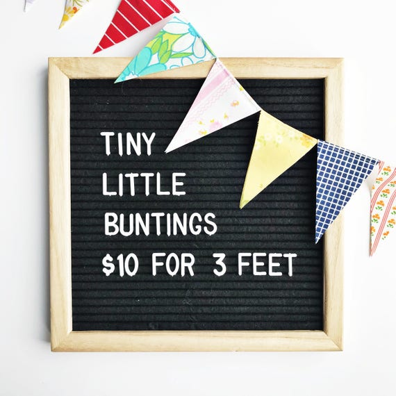 mini bunting banner colorful flag garland party decoration