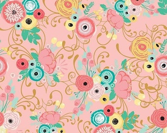 ON SALE Riley Blake Designs Just Sayin' by My Mind's Eye Main Pink