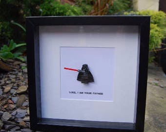 Father's Day Dad Gift -  Darth Vader Dad Daddy Star Wars Fans - Luke I am Your Father - Personalised Daddy Frame