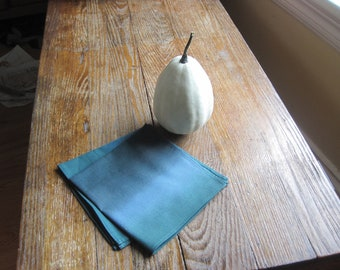 Marimekko Teal Napkins SET of 4 - Ombre Blues Kitchen Table Decor - Thanksgiving Autumn Winter Food Napkins - Handmade by SewnNatural
