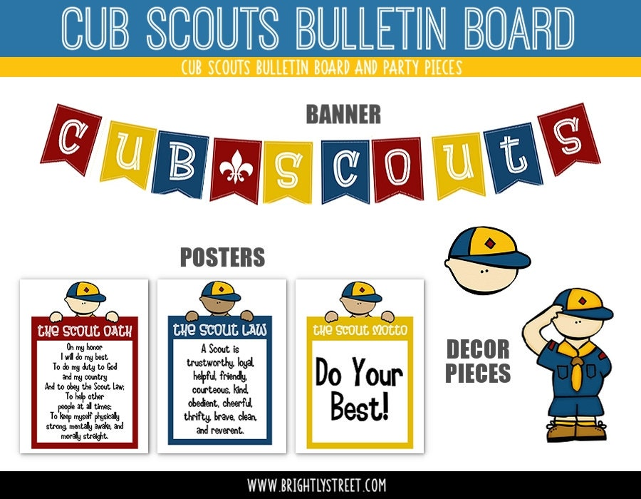 Cub Scouts Bulletin Board and Party Signs
