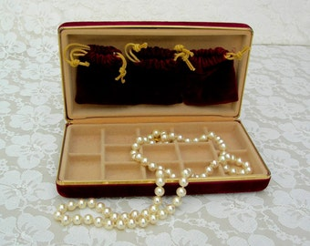 Small Velvet Jewelry Box, travel jewelry box, unisex jewelry box, removable bags