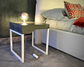 Bedside table with lighting