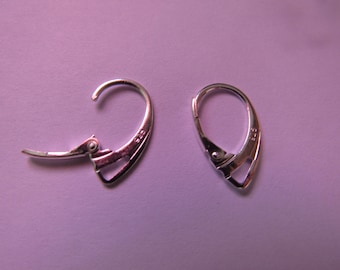 pair of medium silver-tone earrings
