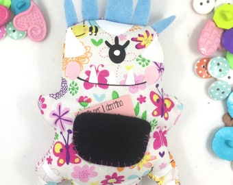 Tooth puppet holder patches of Tooth Fairy letter