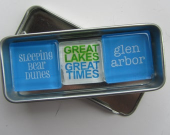 GLEN ARBOR, Up North Michigan, Glen Lake, Michigan Magnets, Leelanau, Traverse City, Sleeping Bear Sand Dunes, Michigan