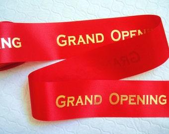 "Grand Opening Ribbon - 2.5"" x 15'"