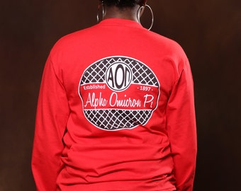Alpha Omicron Pi 1897 Long Sleeve - AOPi Letter Shirt