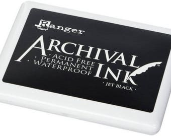 Extra Large Ink Pad - JUMBO Ink Pad 4x6 Archival Ink - Oversized Stamp Ink - Ranger Non Toxic Ink - Rubber Stamp Ink - Permanent Acid Free