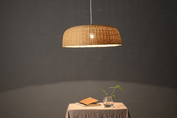 Giant basket bamboo and wood pendant lamp ceiling lamp mozeypictures Image collections