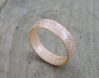 Quartz rose maple ring