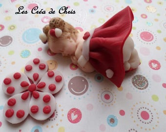 baby girl dress high polymer clay has reliefs.