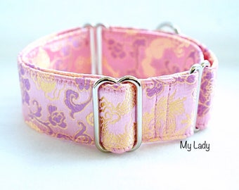 MY LADY - Special occasions martingale collar, Fancy sighthound collar, Greyhound collar