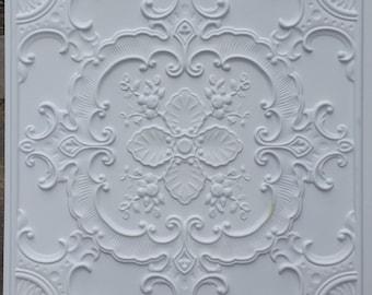 PL19 faux tin ceiling tiles white matt 3D embossed Photography Background panels boards 10tiles/lot