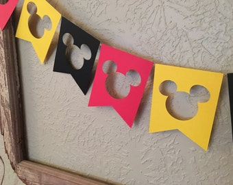 Mickey Mouse Birthday Banner Mickey Mouse Garland party decorations Mickey Mouse Birthday Decorations