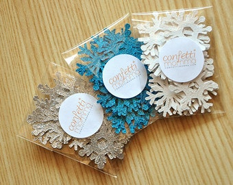 Frozen Birthday Party Decoration Mini Confetti 3 Packs 25CT Each.  Handcrafted in 2-5 Business Days.  Mini Snowflake Confetti.