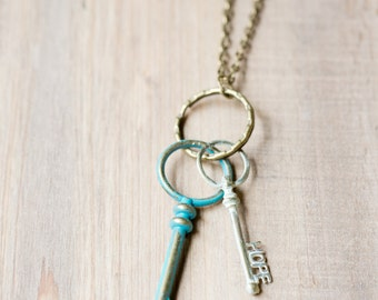 Hope and Love Keys Necklace
