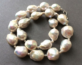 Flameball Pearl Necklace, Flameball Pearls