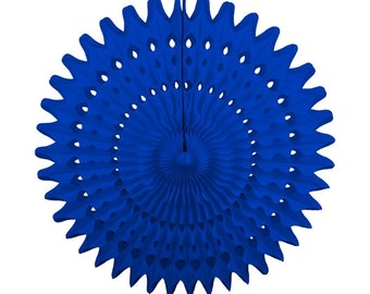 "21"" Blue Tissue Paper Fan - Wedding, Nursery, Baby Shower, Bridal, Backdrop, Photoshoot"