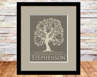 Custom Family Tree, Anniversary Gift for Grandparents, Anniversary Gift for Parents, Christmas, Mothers Day, Like Branches on a Tree