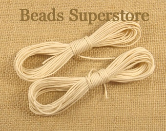 Waxed Cotton Cord - 2.5 meters (about 2.74 Yards)