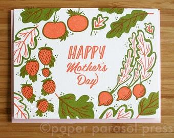 Garden Greens Mother's Day Letterpress Card