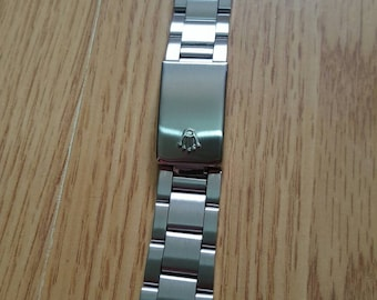 19mm and 20mm replacement bracelet band/strap/ with clasp fits to rolex oyster datejust watches