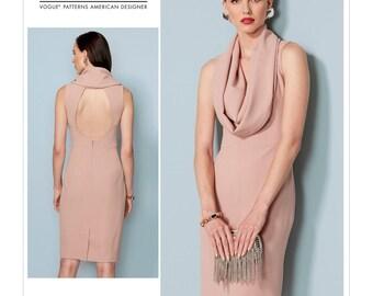 Sewing Pattern Misses' COWL-NECK, Open Back DRESS, Vogue Pattern 1531, Spring 2017 Line,  Lialia by Julia Alarcon Designer