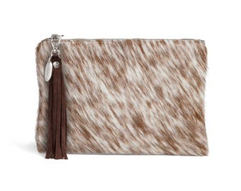 Cowhide Clutch | Cowhide Bag | Rare Cowhide