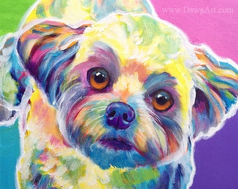 Maltipoo, Pet Portrait, Maltipoo Art, DawgArt, Dog Art, Pet Portrait Artist, Colorful Pet Portrait, Pet Portrait Painting, Art Prints