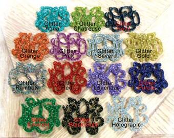 Glitter Monogram Necklace - Acrylic Monogram 3 Initial Necklace Monogram Gift , Personalized Gift